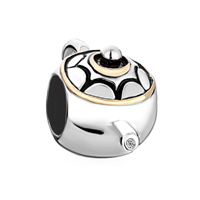 Teapot 925 Sterling Silver Fits Beads Charms Bracelets Fit All Brands