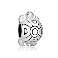 Cute Tortoise 925 Sterling Silver Jewelry Fit Beads Charms Bracelets All Brands