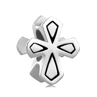 925 Sterling Silver Double Side Celtic Cross Beads Charms Bracelets Fit All Brands