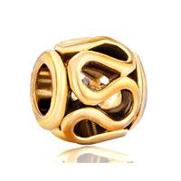 Golden Lacy European Bead Charm Braceleteuropean Bead Charm Bracelet