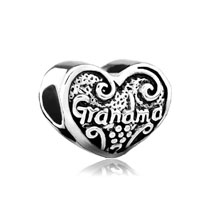Love Grandma And For Necklaces Heart Family Beads Charms Bracelets Fit All Brands