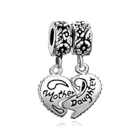Mother Daughter Charms 925 Beads