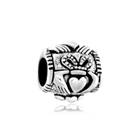 Pugster Sterling Silver Irish Claddagh Fits Beads Charms Bracelets Fit All Brands