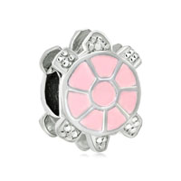 Little Cute Light Pink Tortoise European Bead Charms Bracelets