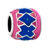 Pugster Pink Blue Irregular Gift Fit Beads Charms Bracelets All Brands