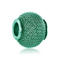 Blue Topaz Crochet Charm Bracelet Spacer European Bead Bracelet