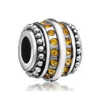 Topaz Yellow Bling Swarovski Victorian Charm Bead Charm Jewelry