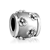 Silver Plated Many Floral European Bead Charms Charms Braceletss