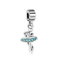 Silver Baby American Girl Charm Ballet Dancer Love To Dance Beads