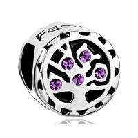 Amethyst Purple Crystal Family Tree Of Life Bead Charm Bracelets