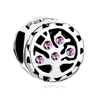 Alexandrite Amethyst Crystal Family Tree Of Life Bead Charm Bracelet