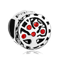 Light Red Swarovski Crystal Family Christmas Tree Of Life Bead Fit All Brands