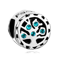 Blue Topaz Swarovski Crystal Family Tree Of Life Bead Charm Bracelet