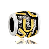 Golden Letter Bracelet Charms Initial U Classic Alphabet Beads