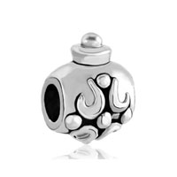 Silver Plated Flagon Pattern Hallowmas European Bead Charm Bracelets