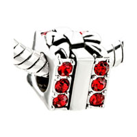 Red Swarovski Crystal Box Gifts European Bead Charms Bracelets