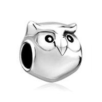 Sterling Silver Beads Cute Owl Animal Charm For Bracelet Charm For Bracelet