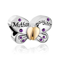 Swarovski Elements Mother Daughter Charms