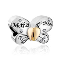 Butterfly Mother Daughter Charms Swarovski