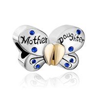 Swarovski Butterfly Mother Daughter Charms