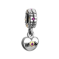 Mom Charms Spacer Dangle Beads