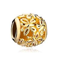 Silver 22k Golden Round Shiny Lovely Butterfly Charm Bracelet Charm