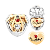 Mother Daughter Charms Beads Heart