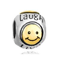 Smile Heart Charm Bracelet Live Love Laugh European Beadbracelets