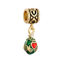 Vintage Golden Pattern Dangle Claddagh Love Beads Charms European