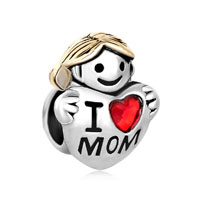Mother Daughter Charms Swarovski Beads