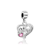 Mom Charms Heart Spacer Swarovski