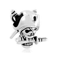 Halloween Skull Charm Pirates Of The Caribbean Captain Jack Bead