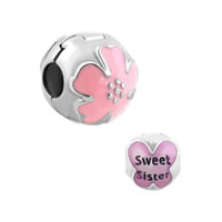Sister Charms Flower Stopper Beads