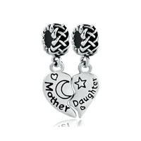 Mother Daughter Charms Celtic Knot