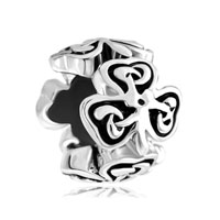 Heart Three Leaf Irish Knot Clover Charm Bracelet Spacers Silver