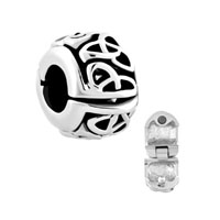 Irish Triquetra Celtic Endless Knot Clip Lock Stopper Charm Spacers