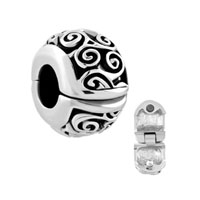 Irish Charm Celtic Swirl Flower Clip Lock Stopper Charm Spacers