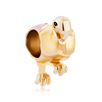 Flamingo Animal For Gold Plated Beads Charms Bracelets Fit All Brands