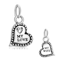 New Silver Plate My Love Heart And Fit Beads Charms Bracelets All Brands