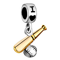 Gifts I Love Playing Baseball Charm Sports Charms For Bracelets