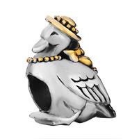 Silver Lovely Goose Cap European Infant Charm Bead Charms Bracelets