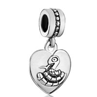 Zodiac Animal Charms For Sign Snake Dangle Heart Love Charm Beads