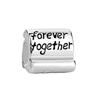 925 Sterling Silver Family Forever Together Fit Beads Charms Bracelets All Brands