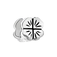 Pugster Sterling Silver Lucky Four Leaf Celtic Clover Beads Charms Bracelets Fit All Brands