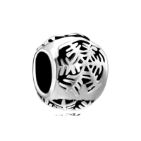 925 Sterling Silver Snowflake Fits Beads Charms Bracelets Fit All Brands