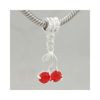 July Cherry Fit All Brands Dangle European Beads Charms Bracelets