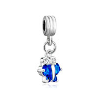 Topaz December Birthstone Butterfly Charm Spacer Dangle Beads Charm