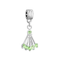 Pugster Peridot Green August Births Sector Fancy For Dangle European Beads Fit All Brands Charms Bracelets