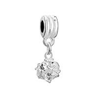 Classic White April Art Ball Dangle Beads Charms Bracelets Brands
