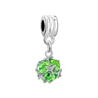 Birthstone Classic August Art Ball Dangle European Beads Fit All Brands Charms Bracelets